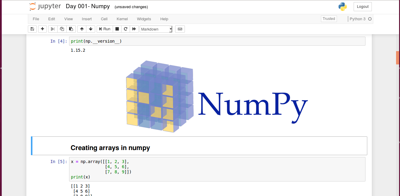 Numpy-python